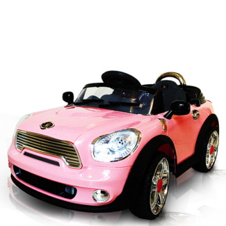 pink mini ride on car