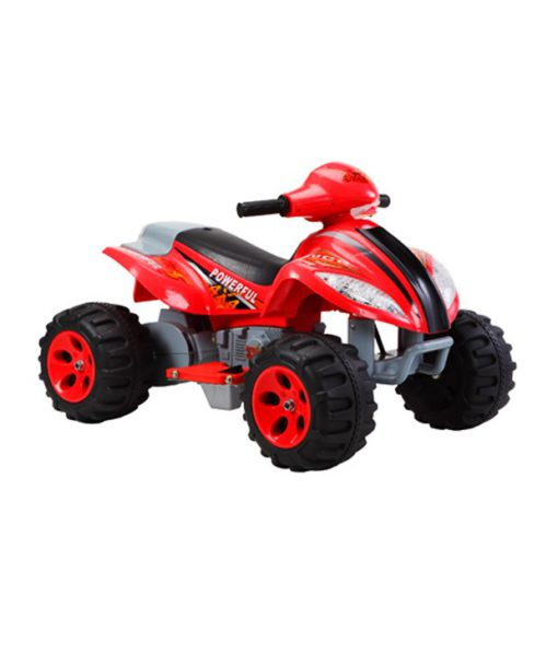 red sporty kids quad ride on car