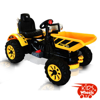 Tipper Ride on car yellow